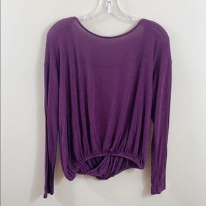 Free People Laguna open sexy back blouse in plum